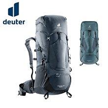 丹大戶外【Deuter】德國 50+10L拔熱式透氣背包 深灰黑、深灰藍 3340521 登山包│健行包│包包│後背包