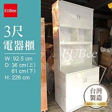 【優彼塑鋼】3尺電器櫃/櫥櫃/收納櫃/南亞塑鋼/防水家具/客製化家具訂製(A077)