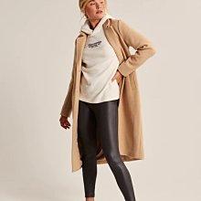 美國Abercrombie & Fitch女裝Cozy Logo Hoodie柔柔米白S號休閒薄帽T含運