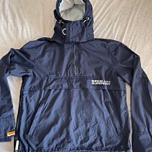 Superdry 極度乾燥 男生連帽風衣外套 套頭式外套 雙層拉鏈 防風防潑水 深藍色 二手衣 九成新少穿 已送洗 無髒無破 深藍色 XL號