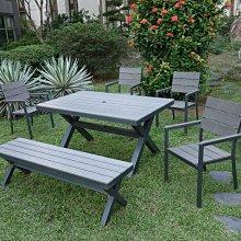 [晴品戶外休閒傢俱館] 塑木桌椅 戶外桌椅 庭院桌椅組 休閒桌椅