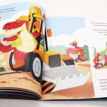 英文原版繪本  Dino Diggers Crane Calamity 小恐龍挖掘機 兒童啓蒙認知圖畫書 Bloomsbury出版 親子互動讀物