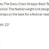 美國Aero女裝 Paisley tile daisy chain strappy-back tank XS圖騰背心含運