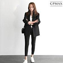 CPMAX 韓系修身西裝外套 女韓版修身百搭兩粒扣 女西裝外套 西裝外套中長版 女上班外套 外套 西裝 女上著 W61