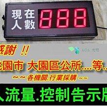 3位數單/雙出入口人流.室內/外人數限制.計數控管告示屏-室內人數控制/防疫人數控管