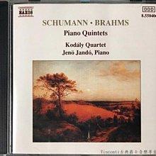 @【NAXOS】舒曼/布拉姆斯:鋼琴五重奏(Jeno Jando揚多,高大宜弦樂四重奏)