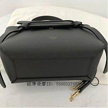 二手正品 Celine Micro Belt Handbag In Grained Calfskin 灰色荔枝紋小牛皮