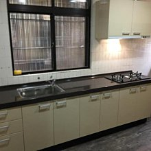 名雅歐化廚具281公分韓國石檯面+下櫃F1木心桶身+五面結晶門板