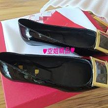 ♥空姐精品♥出貨前實拍照 R*v 款 進口牛漆皮 金屬 方框 方釦 低跟包鞋 多款多色 好品質