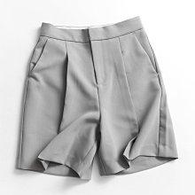 BEFE時尚精品 出口單 春夏新品 百搭顯瘦 高級西裝褶皺高腰 寬腿直筒褲 休閒短褲