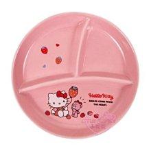 ♥小花花日本精品♥HelloKitty粉色坐姿造型圓形餐盤分隔盤陶瓷盤點心盤~3