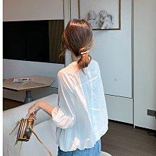 蕾絲白襯衫 S-XL可選 萌蔓物語【KX3636】韓氣質星巴克2021限定女上衣
