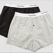Calvin Klein CK 男內著 卡文克萊黑色灰色 純棉寬鬆四角褲 平口褲 內褲 兩件一組 M號 愛Coach包包