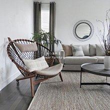 沙發椅古小魚 ins懶人椅創意單人沙發椅民宿陽臺實木編織躺椅設計師圈椅
