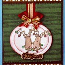 貝登堡印章~G章(GT-4549)耶誕麋鹿燈泡