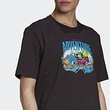 【RTG】ADIDAS OG CHAMELEON ADVENTURE T恤 短T 黑色 插畫風格 休閒 男 H09079
