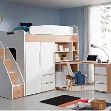 兒童房雙層床系統家具裝潢上床下書桌衣櫃
