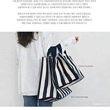 韓國KBP大容量條紋購物袋帆布防水袋簡約環保袋