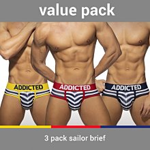 ADDICTED AD964P 3 PACK SAILOR BRIEF 三角內褲 超值三件組【G-Punch】