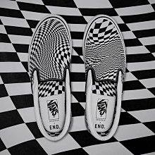 R代購 END VANS OG CLASSIC SLIP ON LX VERTIGO 扭曲 棋盤格 懶人鞋 幾何 男女