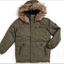 真品 Michael Kors MK 大童男孩10 12 歲中長版防風衣雪衣大衣連身帽外套保暖軟毛裝飾 愛COACH包包