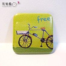 飾品 配件 *徽章 方形-腳踏車*不哭鳥