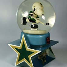 全新含盒SNOOPY史努比 美國 西島WESTLAND8559 DALLAS STARS NHL水晶球絕版品