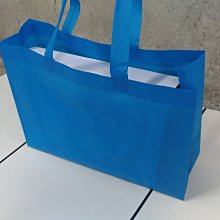 米卡洛 現貨新款藍 不織布袋  每個7元滿750免運 精美紙袋 購物袋 手提袋35*10*25cm每包50個350元