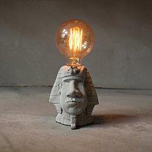 曙MUSE|埃及 法老 水泥 摩埃 可調光 桌燈 咖啡廳 民宿 餐廳 住家 工業 文青 手作 原創 擺飾
