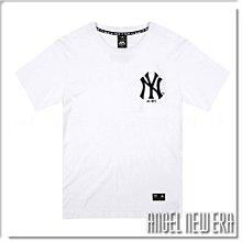 【ANGEL NEW ERA】Majestic MLB 短T NY 紐約洋基 象牙白 大Logo 幾何圖 潮流 穿搭