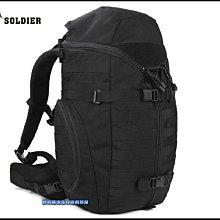 【野戰搖滾-生存遊戲】FREE SOLDIER 快取戰術大背包、後背包【黑色】戰術背包登山背包勤務背包行軍背包雙肩包