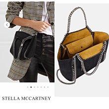 Stella McCartney 全新真品雙面經典黑鍊皮包 芥末黃 特殊皮質處理 絕美品