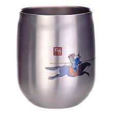 華順 Adagio 400ml 雙層鈦杯 99%純鈦 台灣製造 鈦寶石圖案 巴圖魯阿玉錫