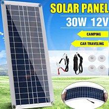 適合手機類的5v DC供電使用30W太陽能充電板 5V 18V雙輸出 可擕式輕薄太陽能板柔性太陽能板太陽能充電器
