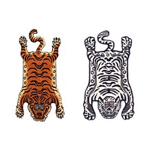 Tibetan Tiger Rug 西藏老虎地毯