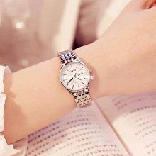 手錶女學生時尚潮流韓版情侶一對鋼帶防水石英女士手錶-LE小琳商店