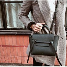 CELINE 189003 Nano Belt bag in grained calfskin