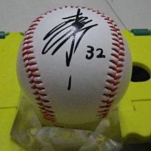 棒球天地---5折賠錢出---核彈頭 松井稼頭央 簽名樂天金鶯紀念球.字跡漂亮