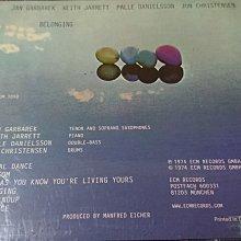 Keith Jarrett BELONGING   1974年錄音作品經典ecm cd爵士古典發燒錄音盤寂靜以外最美的聲音ECM1050早期罕見盤德國版片況如新