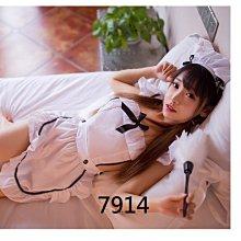 cosplay 情趣睡衣 白色拼接黑色緞帶小女僕圍裙式性感睡衣 制服誘惑 角色扮演7914~時尚花園館~