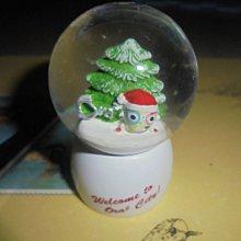 聖誕樹雪花造型小款水晶球 擺放已久 商品如圖 小禮物