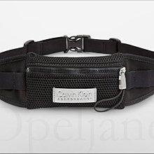 現貨 CK Calvin Klein 卡文克萊黑色專業慢跑賽跑運動外出隨身皮帶式腰包可放IPHONE6+愛Coach包包