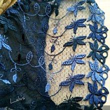網紗低腰內褲 ❉︵ 高貴氣質藍蕾絲網紗刺繡蝴蝶結 低腰內褲 ︵❉ 。Lets Go lulus。AC65