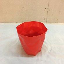 【挑椅子】丹麥 BINBIN 褶皺多功能桶 廢紙簍 (復刻版) XA-001 紅色