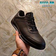 正貨ECCO AQUET 時尚運動男鞋 ECCO現代皮鞋 ECCO時尚休閒鞋 柔軟皮革 出色緩衝 極佳防水 207124