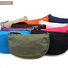 [JL150415-3]純色簡約單肩斜背包休閒韓版水餃包女帆布包-綠色