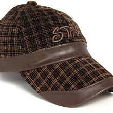 帽子專賣店【STAR秋冬率性造型☆R260-2☆優質絨面格紋棒球帽】
