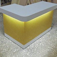 櫃台《全一》3D立體系列L型辦公桌.L型櫃台.吧台.L型服務台.飲料台.客服台.櫃檯.訂做!全ㄧ  3D金球櫃台