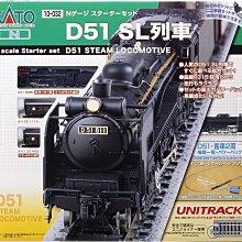 八田元氣小棧:(新日版)全新 Kato 10-032 N規 D51 SL列車 蒸氣機關車 基本套裝組