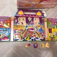 9.9成新 二手書 magnetic princess palace 磁鐵互動故事書 書少一本 城堡 美國正品  市面難